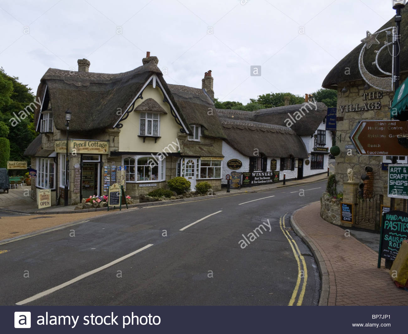 Isl of Wight Pencil Cottage Shanklin - Stock Image