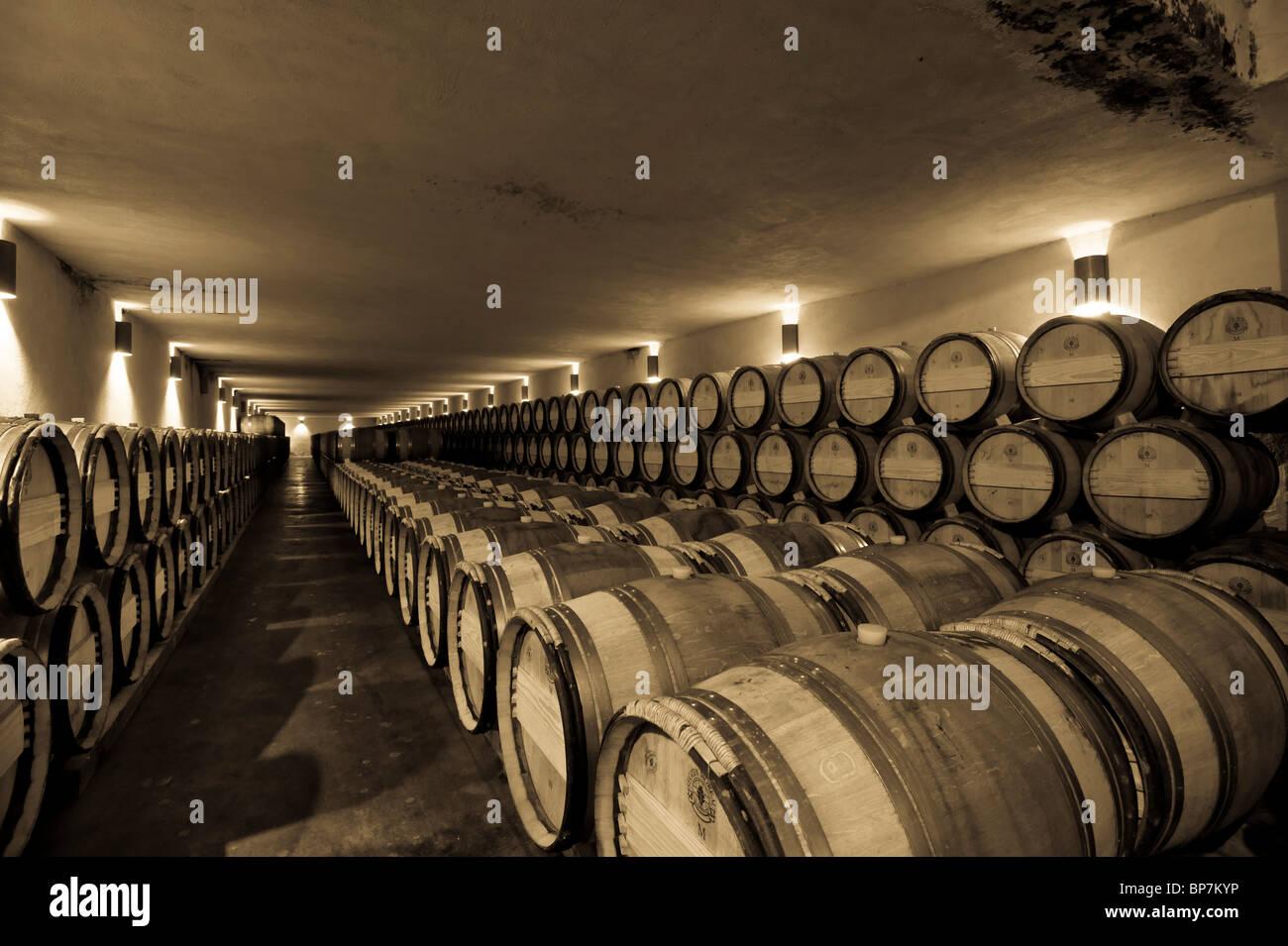 storage oak wine barrels. Wine Barrel Storage In A Winery Cellar Oak Barrels