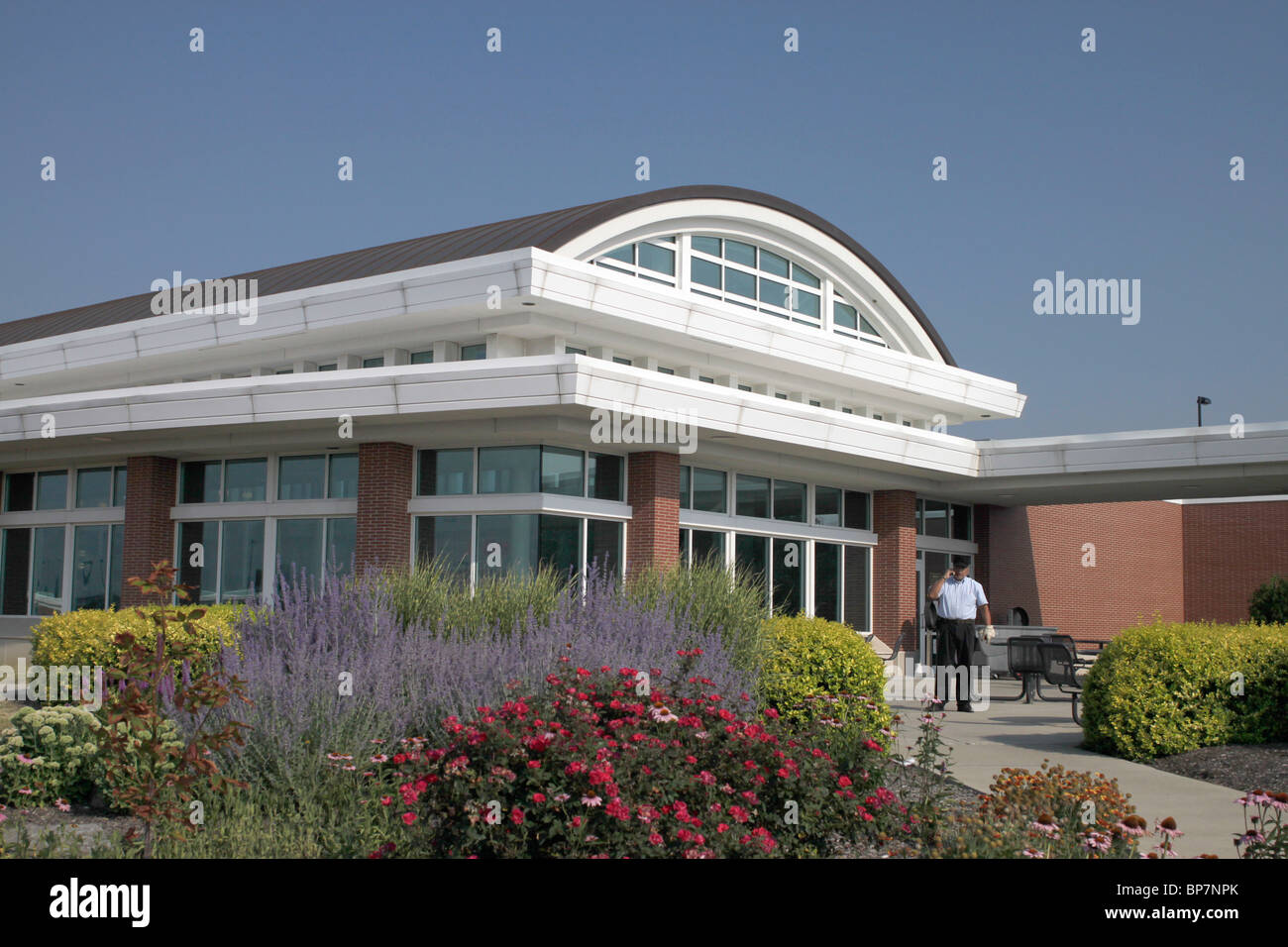 Blue Heron service plaza on Ohio turnpike westbound - Stock Image
