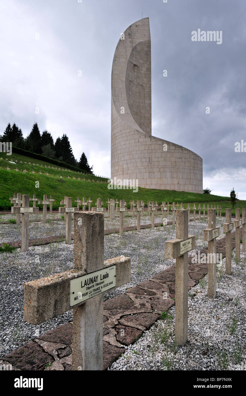 The Monument to the Departed at Natzweiler-Struthof, only WW2 concentration camp by Nazis on French territory, Alsace, - Stock Image
