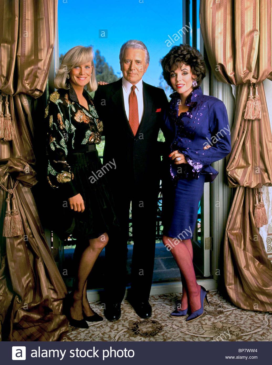 linda evans john forsythe joan collins dynasty 1981 stock photo 30906768 alamy. Black Bedroom Furniture Sets. Home Design Ideas