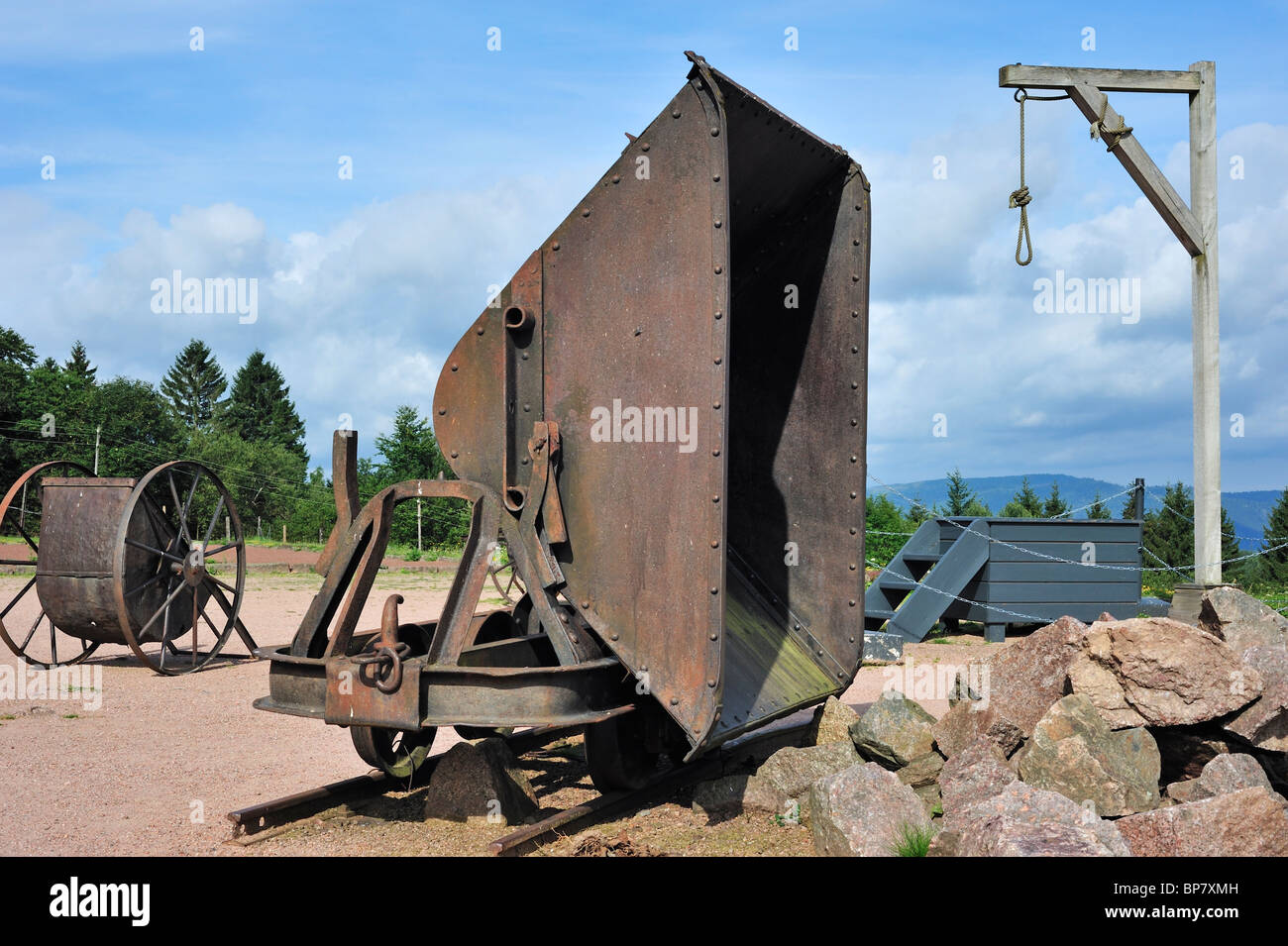 The gallows at Natzweiler-Struthof, the only WWII concentration camp established by Nazis on French territory, Alsace, - Stock Image