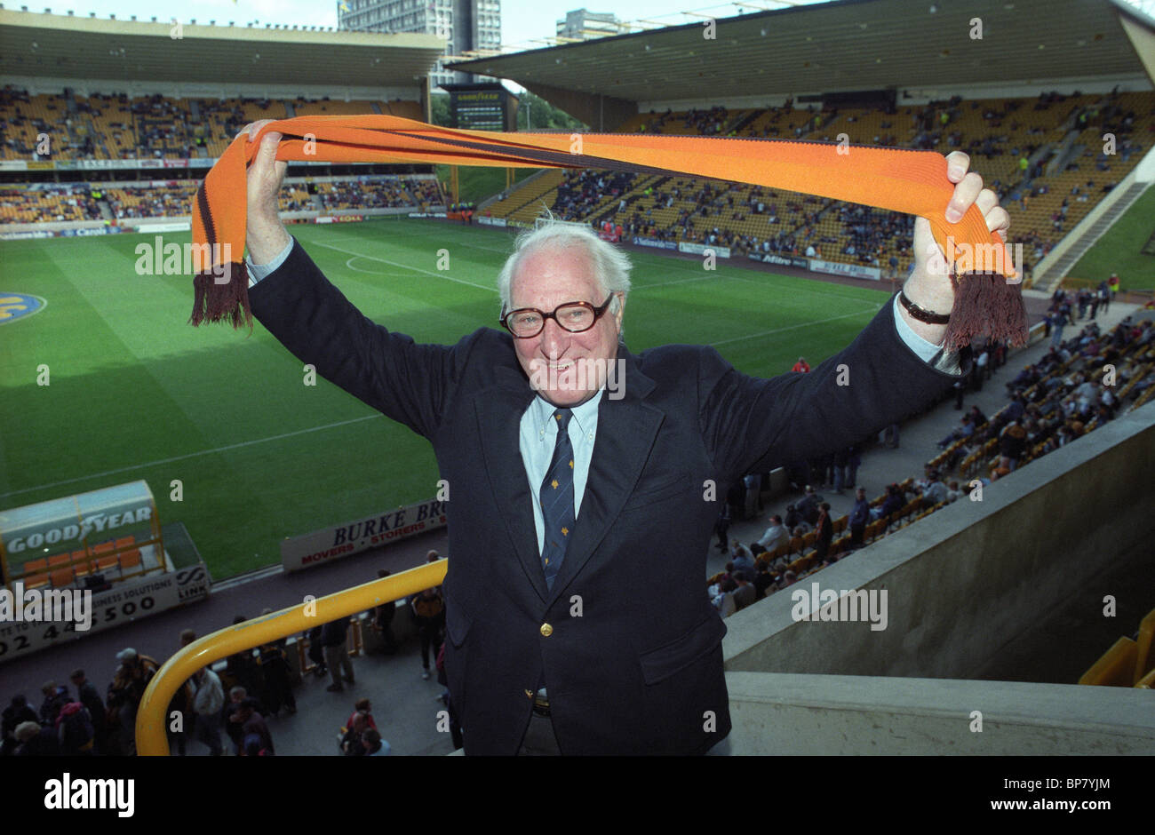 Wolverhampton Wanderers V Charlton Athletic at Molineux 13/9/97 3-1 Sir Jack Hayward after becoming Wolves Chairman. - Stock Image
