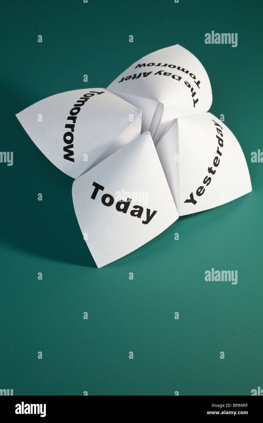 Paper Fortune Teller close up - Stock Image