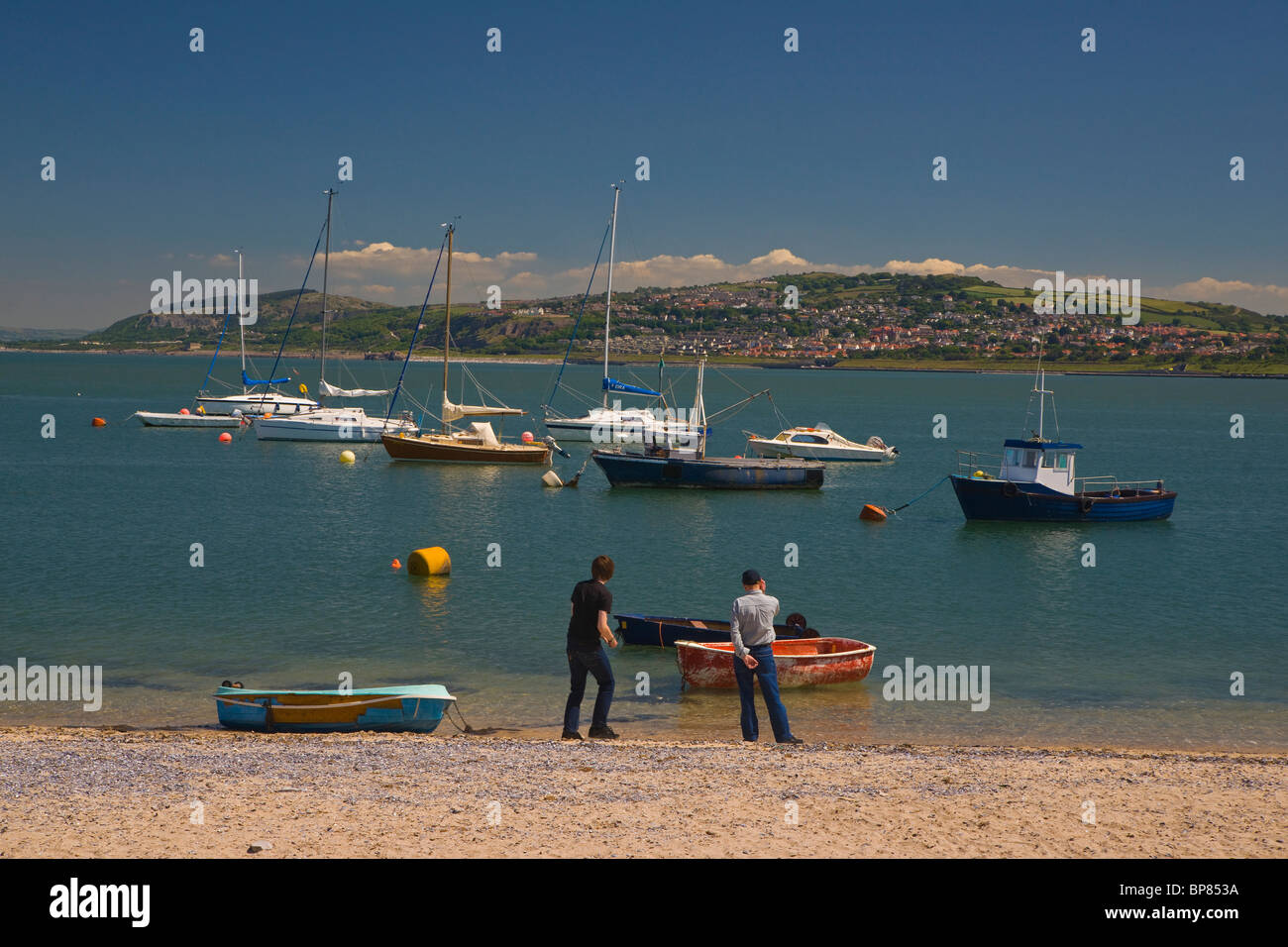 Rhos on Sea, Colwyn Bay, Beach, seafront, north Wales, UK - Stock Image