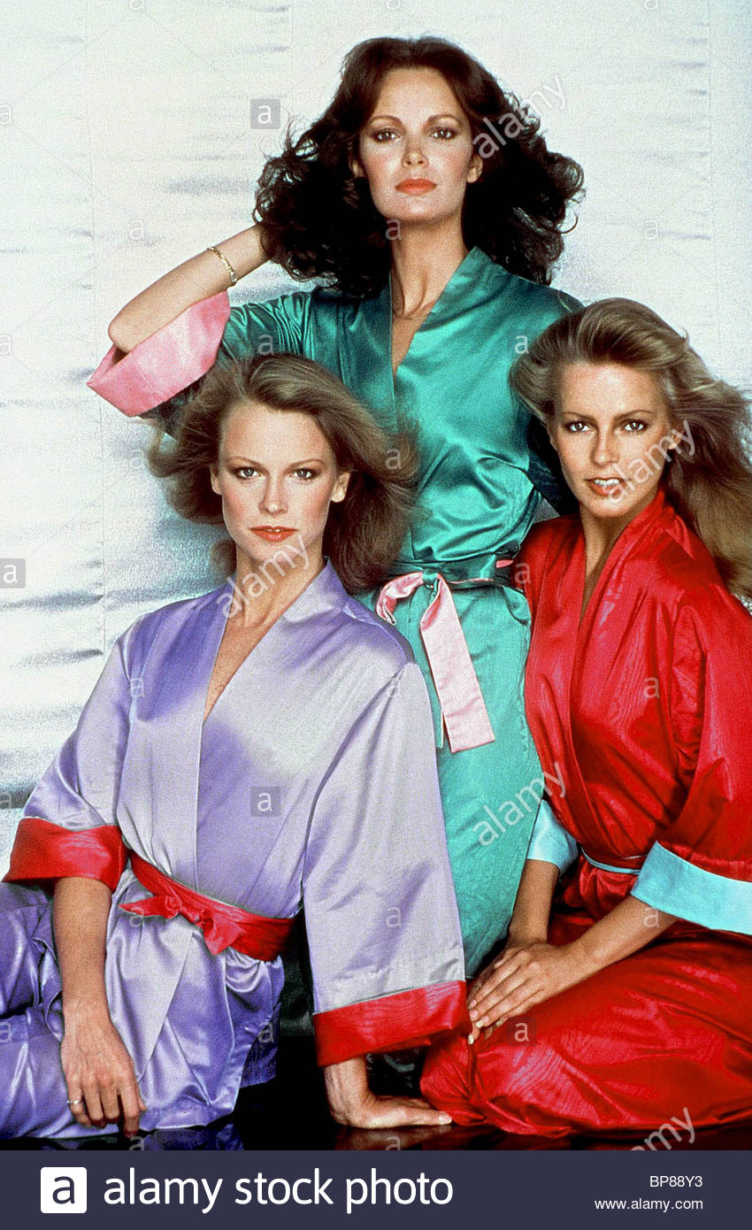 SHELLEY HACK, JACLYN SMITH, CHERYL LADD, CHARLIE'S ANGELS, 1979 - Stock Image