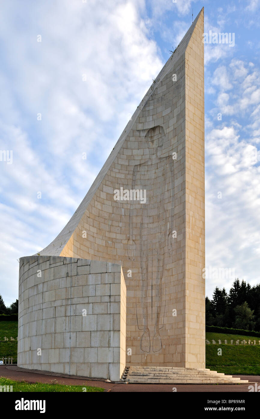 Monument to the Departed at Natzweiler-Struthof, only WW2 concentration camp by the Nazis on French territory, Alsace, - Stock Image