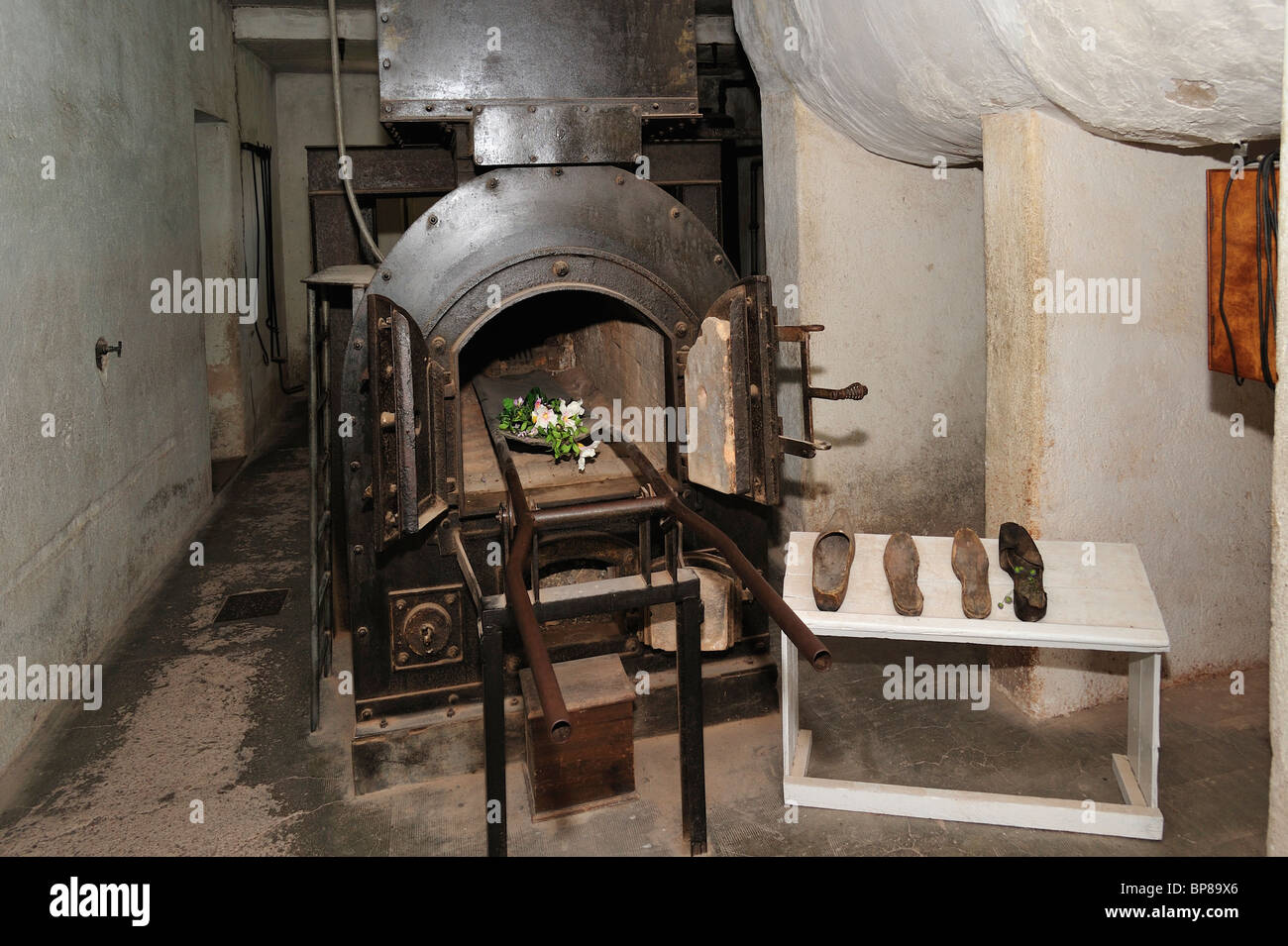 Crematorium at Natzweiler-Struthof, the only WW2 concentration camp established by Nazis on French territory, Alsace, - Stock Image
