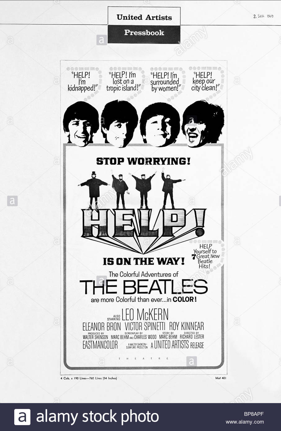 Beatles Poster Black And White Stock Photos Images