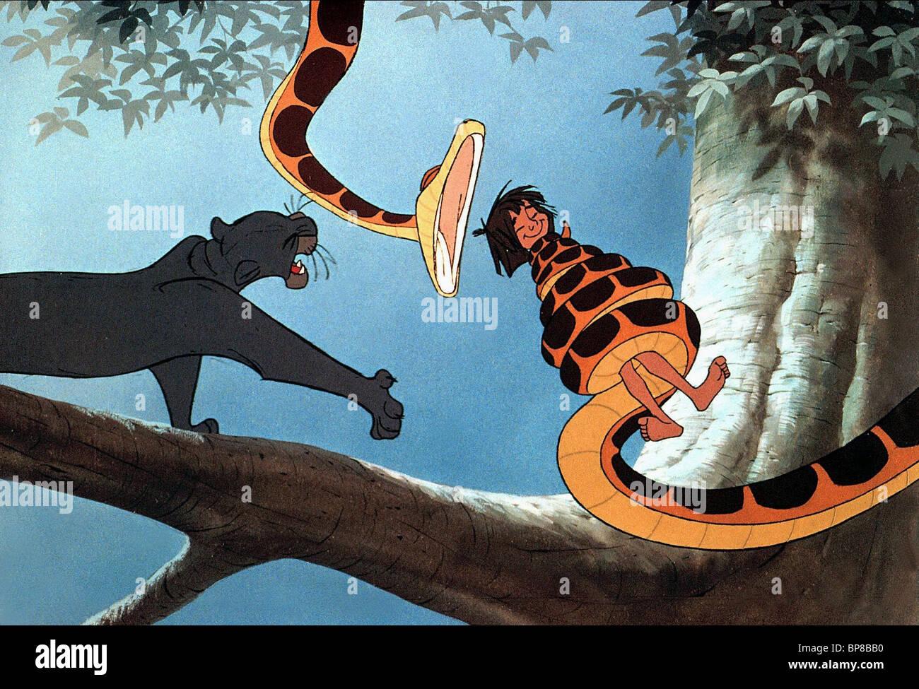 Bagheera Kaa Mowgli The Jungle Book 1967 Stock Photo