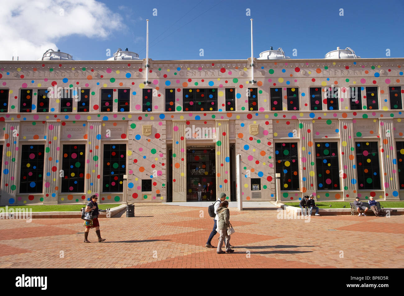 Polka Dots covering the City Gallery, by Japanese Artist Yayoi Kusama, Civic Square, Wellington, North Island, New - Stock Image