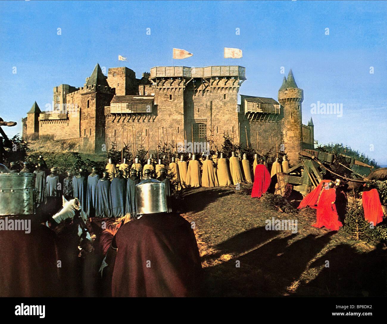 SIEGE SCENE MACBETH (1971) - Stock Image