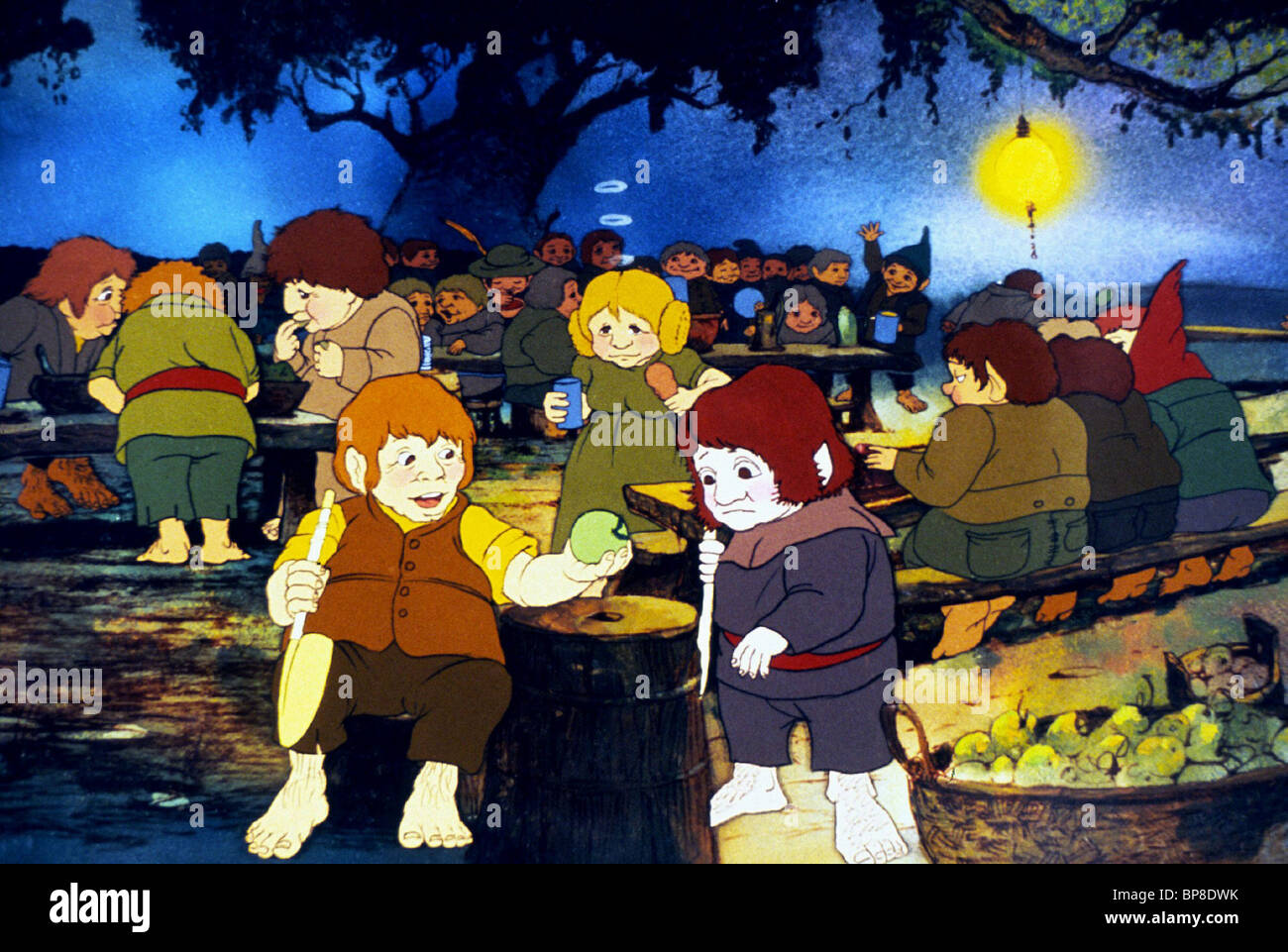 HOBBIT SCENE THE LORD OF THE RINGS (1978) - Stock Image