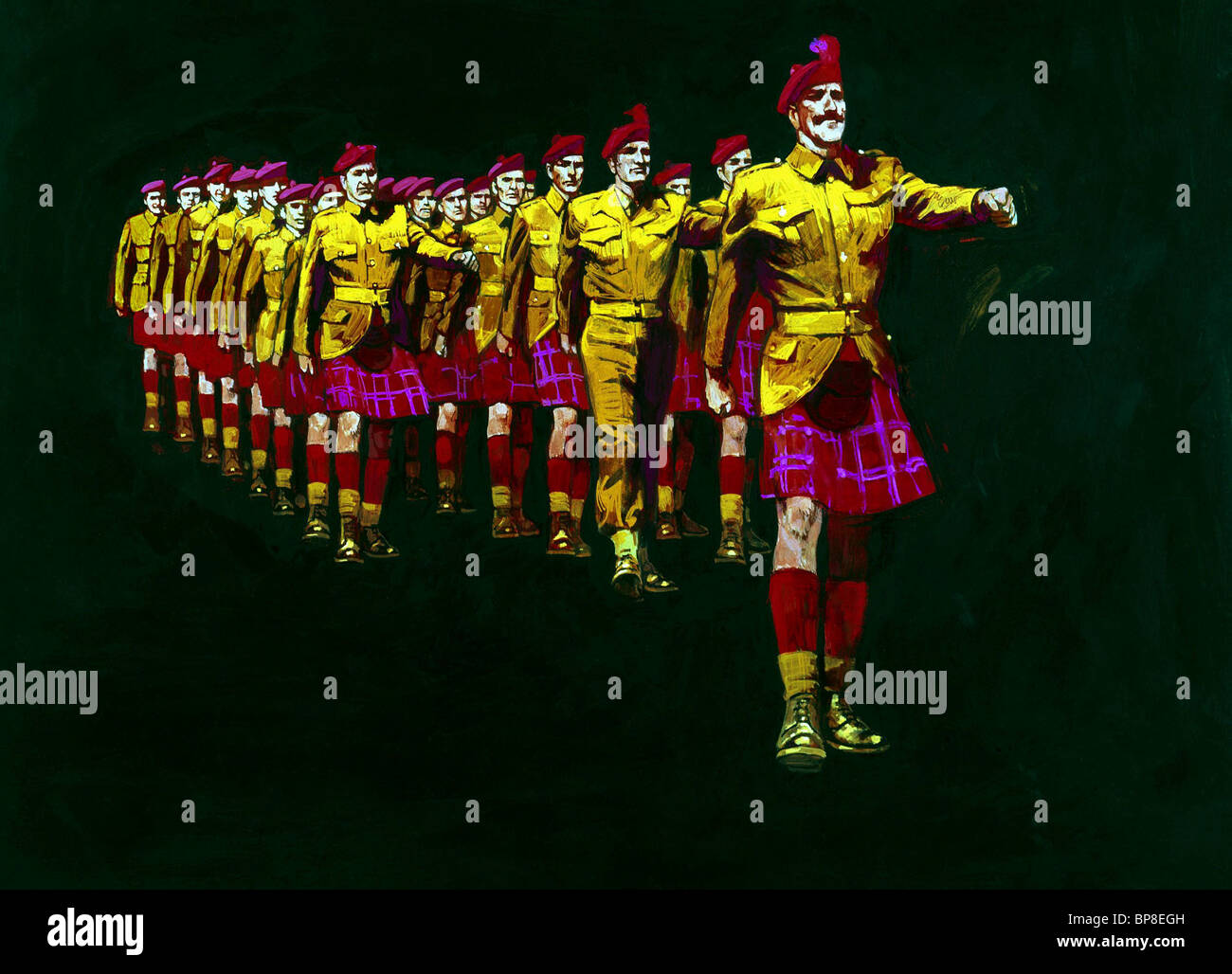 MARCHING SOLDIERS THE DEVIL'S BRIGADE (1968) - Stock Image