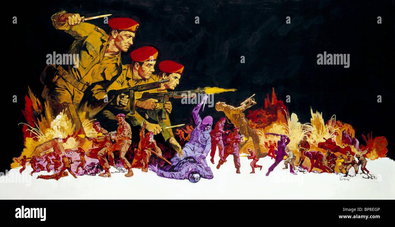 BATTLE SCENE THE DEVIL'S BRIGADE (1968) - Stock Image