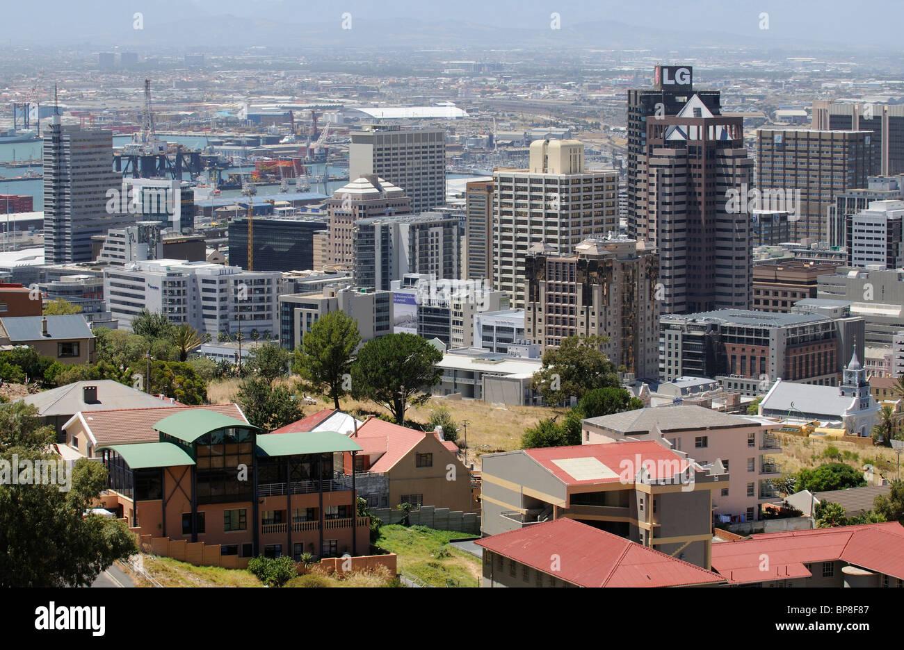 Cape Town city centre business buildings including the highrise LG premises Stock Photo