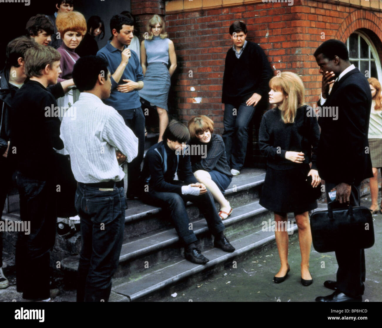 JUDY GEESON, SIDNEY POITIER, TO SIR  WITH LOVE, 1967 - Stock Image