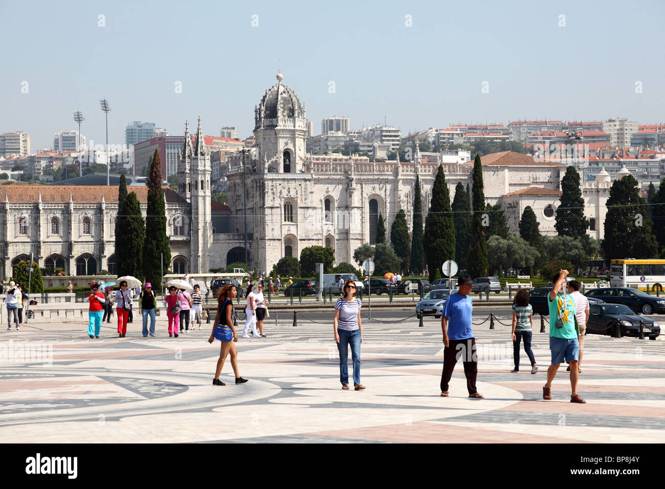 Monastery of the Hieronymites and Tower of Belem in Lisbon, Portugal - Stock Image