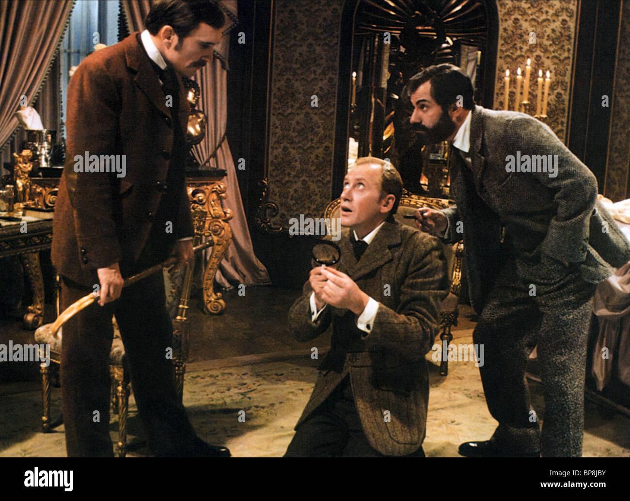 ROBERT DUVALL, NICOL WILLIAMSON, ALAN ARKIN, THE SEVEN-PER-CENT SOLUTION, 1976 - Stock Image