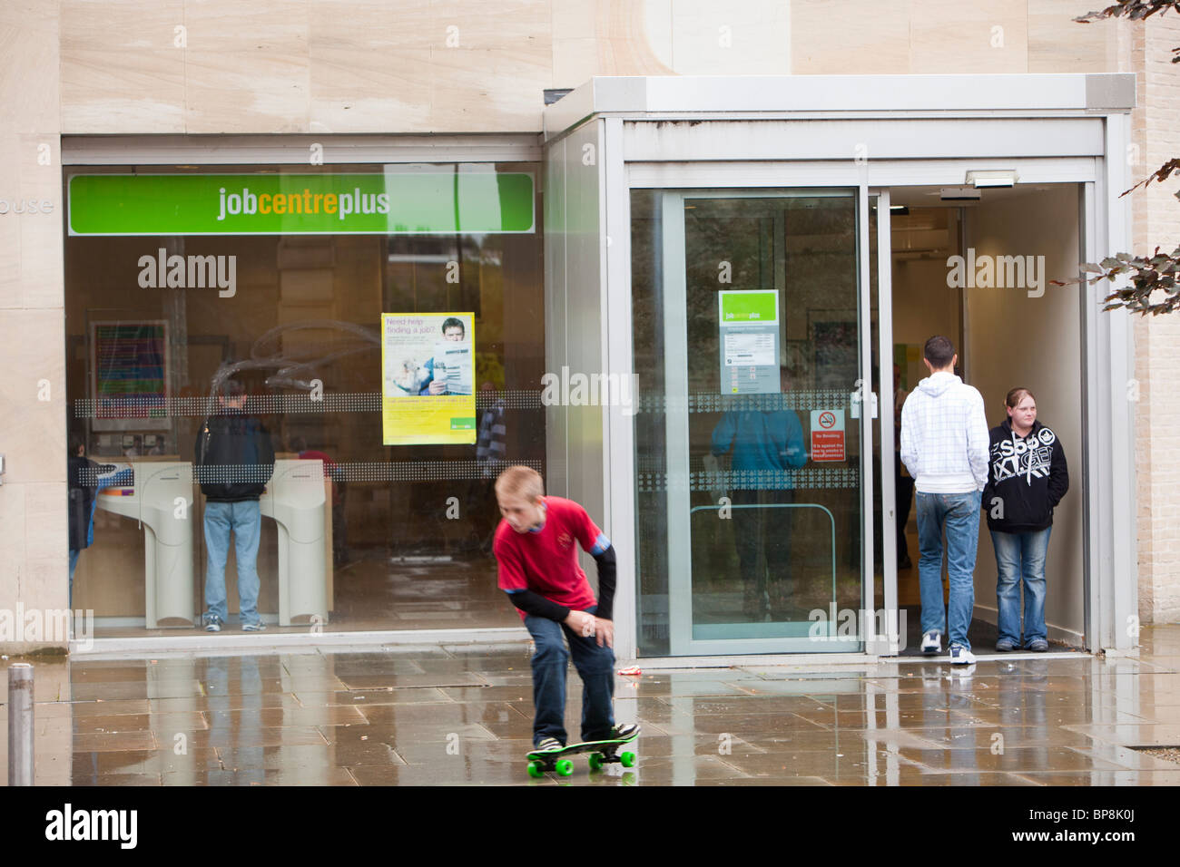 The job centre in Burnley, Lancashire, UK, a working class town that has high levels of unemployment. - Stock Image