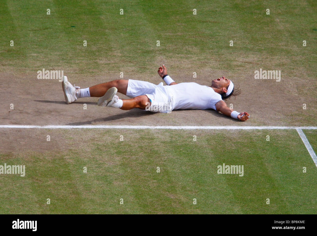 2010 Wimbledon men's singles final winner Rafael Nadal, Spain, - Stock Image