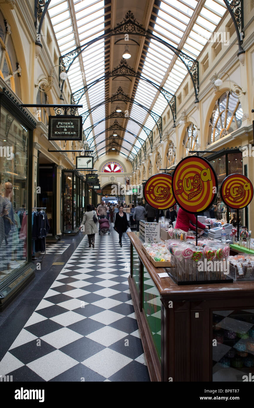 The Royal Arcade, Melbourne - Stock Image
