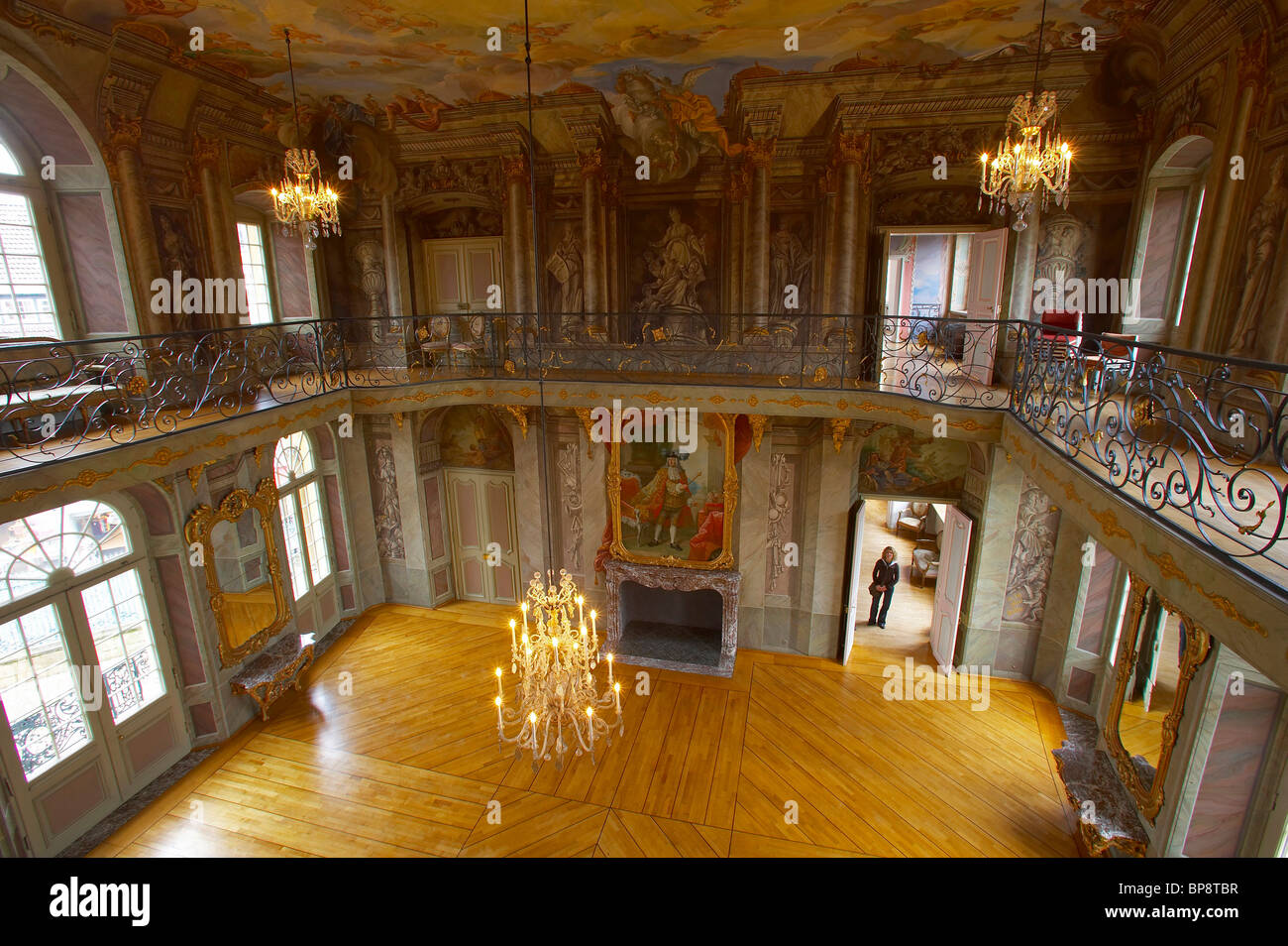 indoor photo, day, Erbdrostenhof  Muenster, Muensterland, North Rhine-Westphalia, Germany, Europe - Stock Image