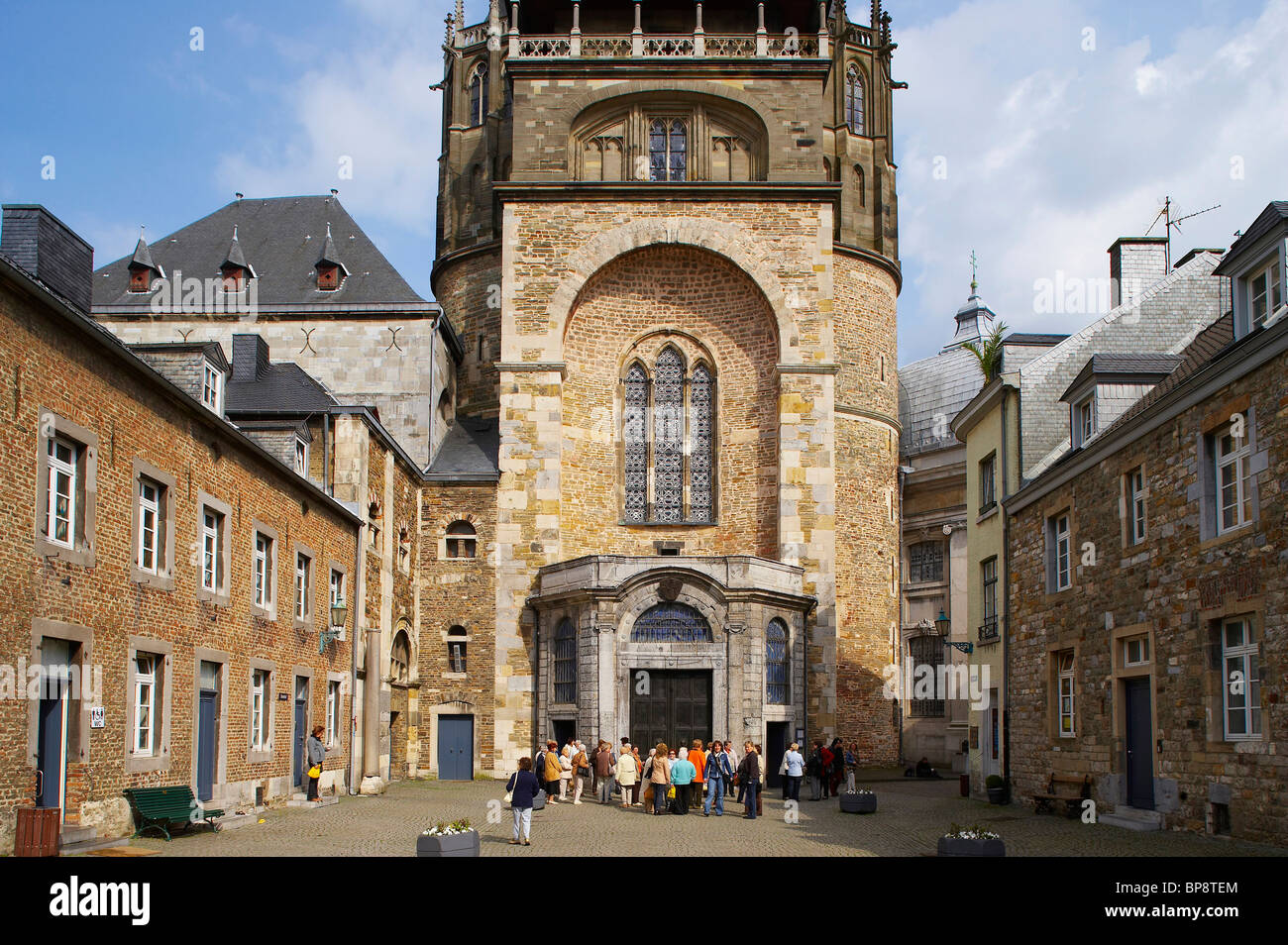 indoor photo, day, Aachen Catherdal, Aachen, North Rhine-Westphalia, Germany, Europe - Stock Image