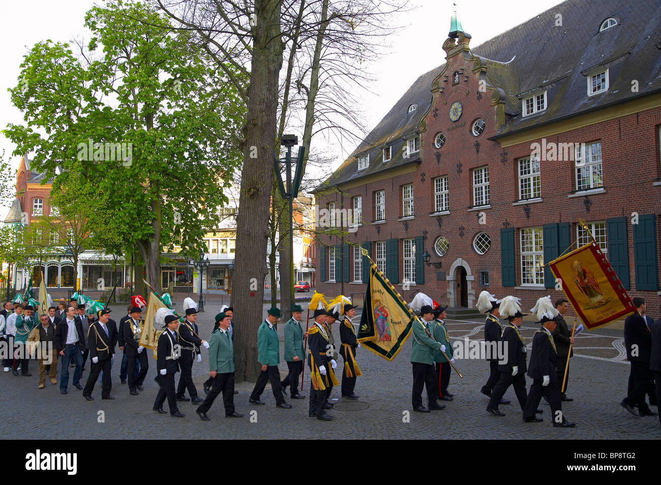 Pilgrims in Kevelaer, spring, Niederrhein, North Rhine-Westphalia, Germany, Europe - Stock Image