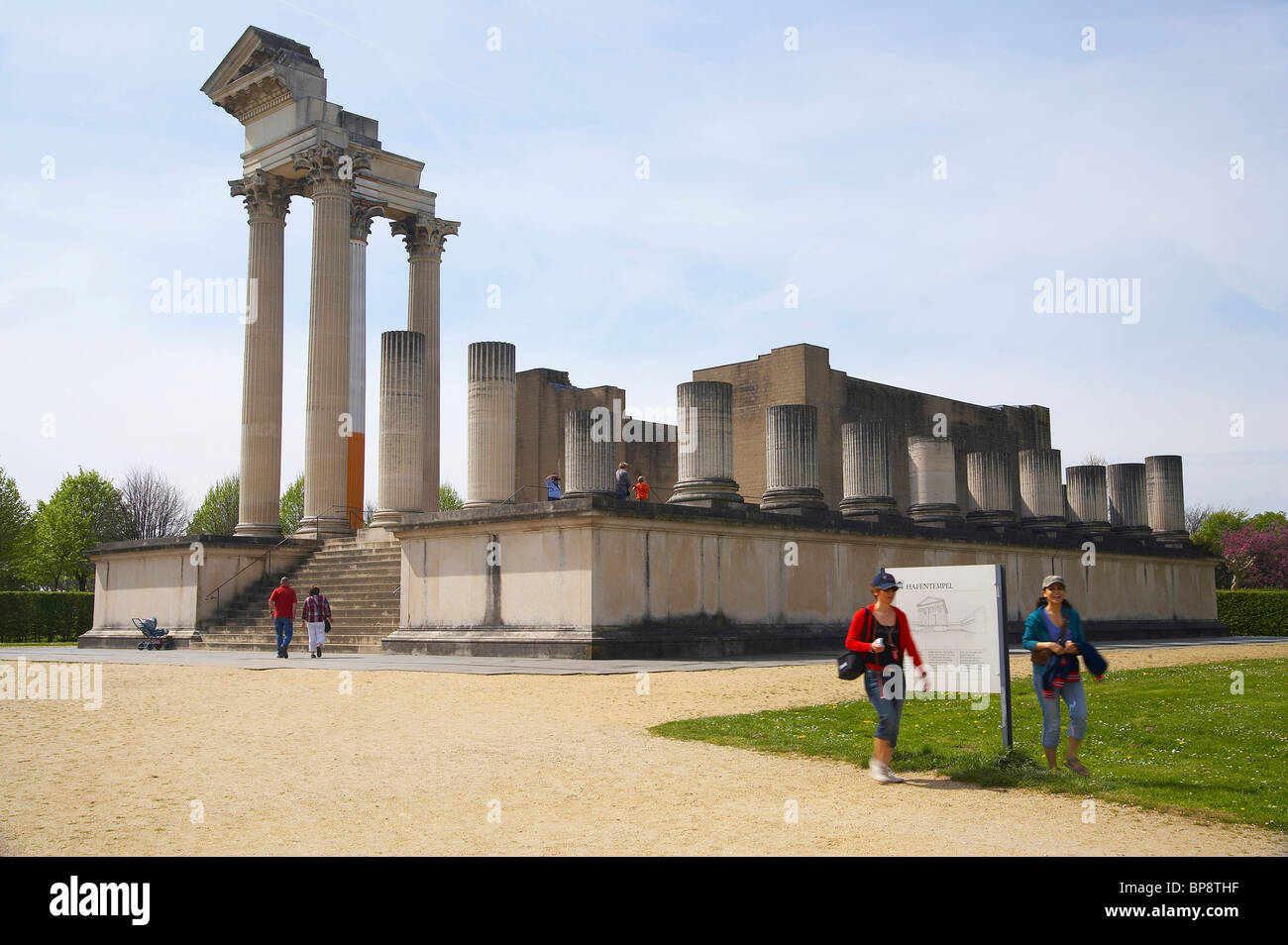 Archaeologic park in Xanten, spring, Niederrhein, North Rhine-Westphalia, Germany, Europe - Stock Image