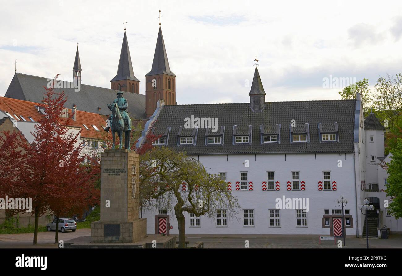 Historical city of Kleve, spring, Niederrhein, North Rhine-Westphalia, Germany, Europe - Stock Image