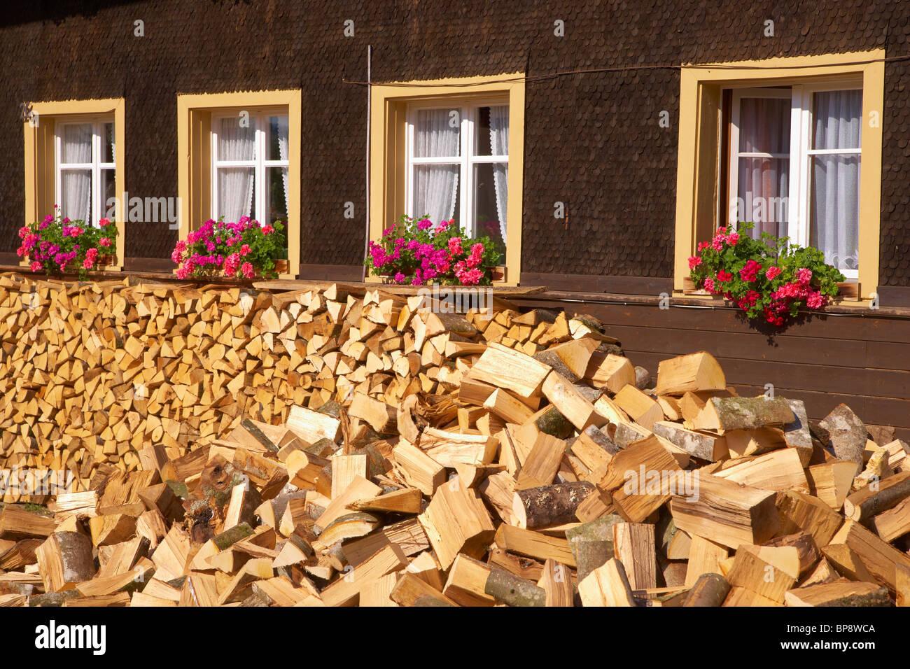 Farmhouse at Bernau - Dorf, Summer, Black Forest, Baden-Wuerttemberg, Germany, Europe - Stock Image