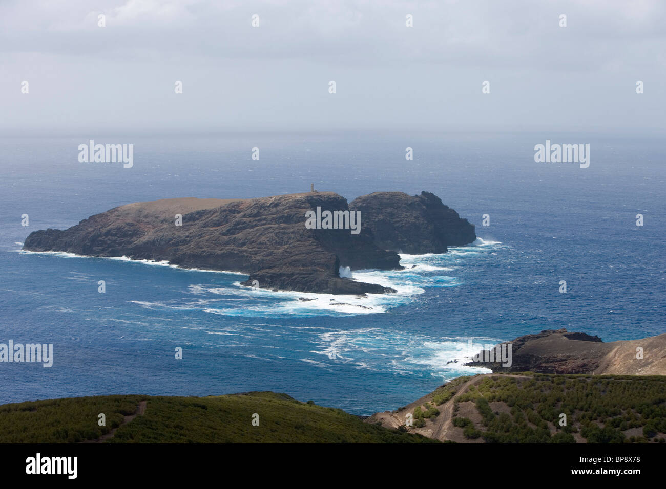 Ilheu de Ferro Island, Porto Santo, near Madeira, Portugal - Stock Image