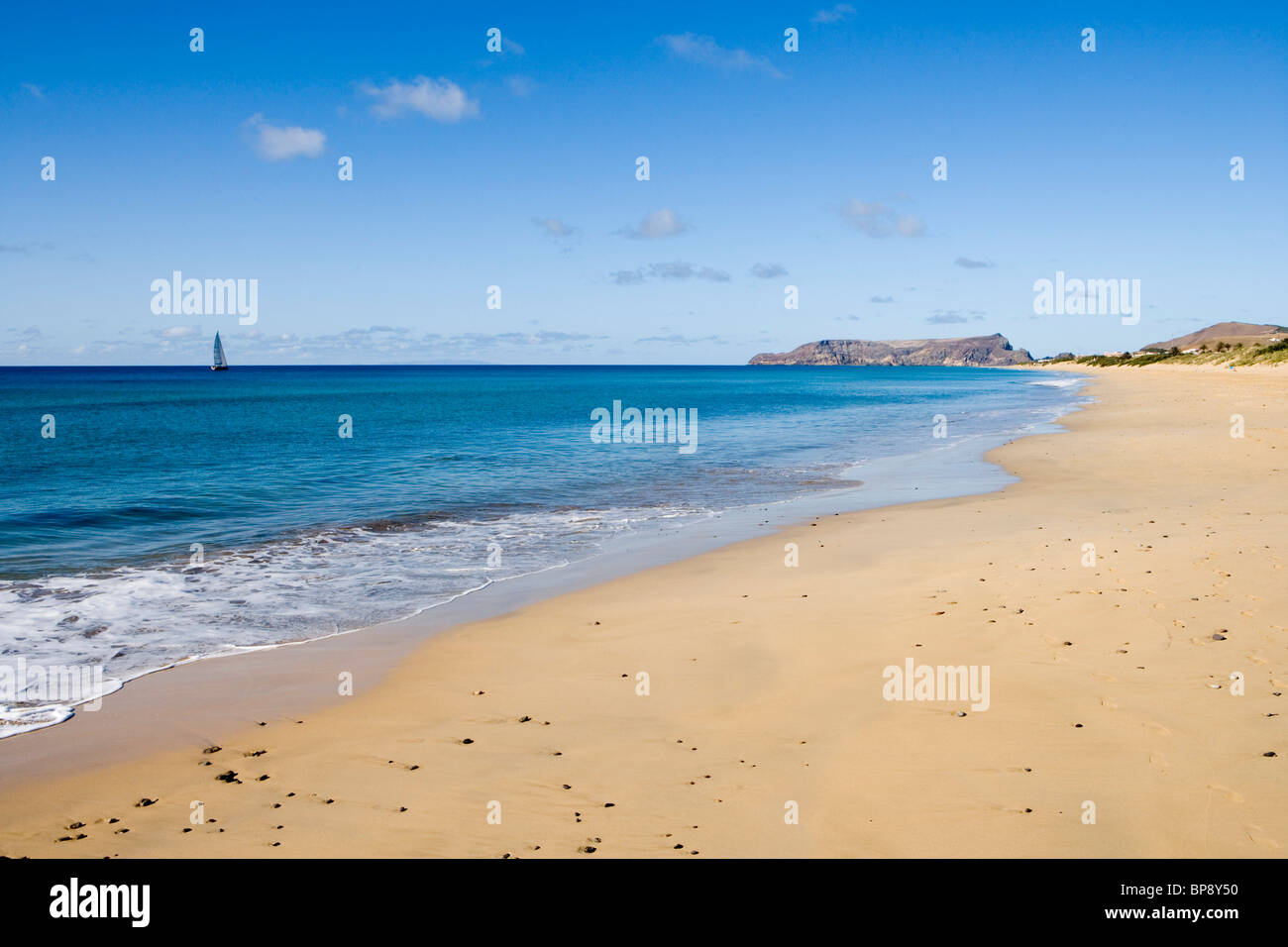 Porto Santo Beach, Porto Santo, near Madeira, Portugal Stock Photo