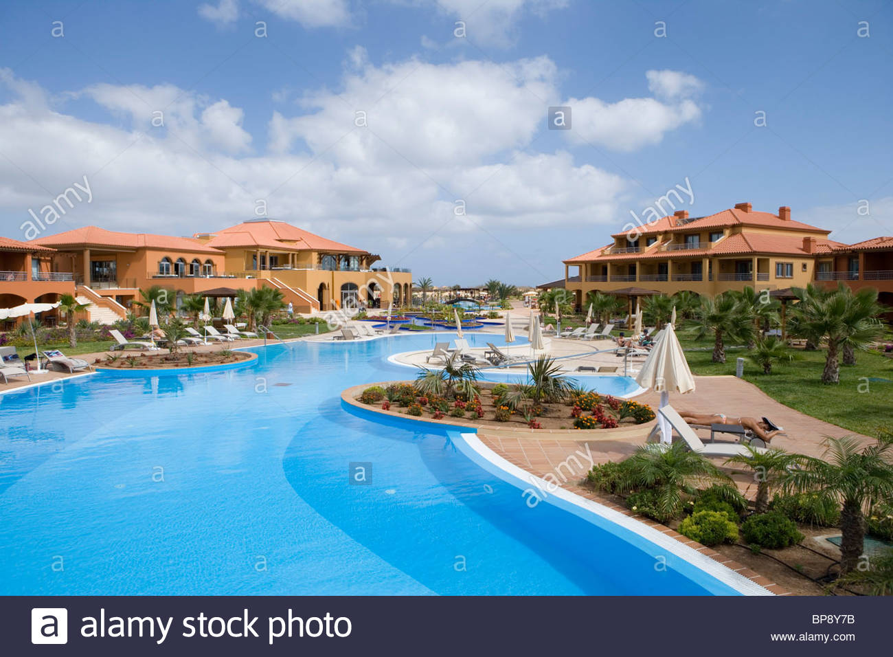 Swimming pool at Pestana Porto Santo Beach Hotel, Porto Santo, near Madeira, Portugal - Stock Image