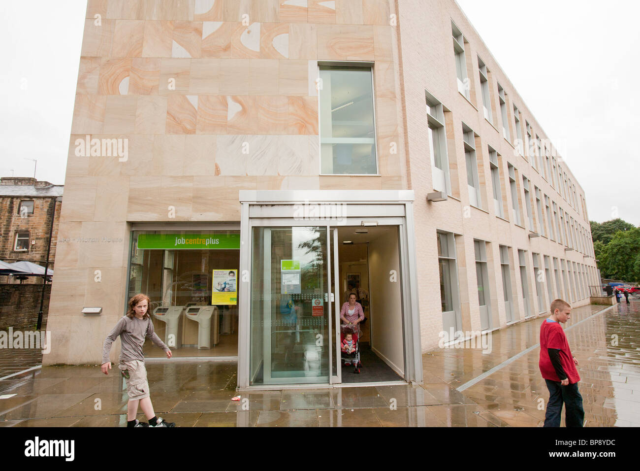 The job centre in Burnley, Lancashire, UK, an area of high unemployment. - Stock Image