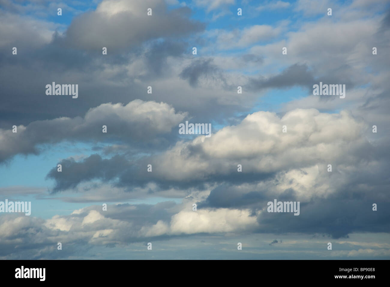 Painterly sky with clouds - Stock Image