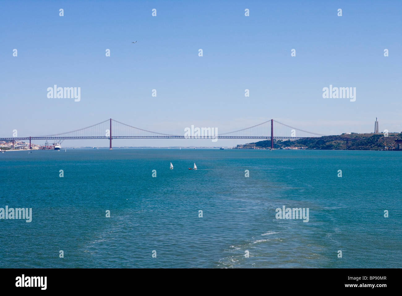 Ponte 25 de Abril Bridge, Lisbon, Lisboa, Portugal, Europe Stock Photo
