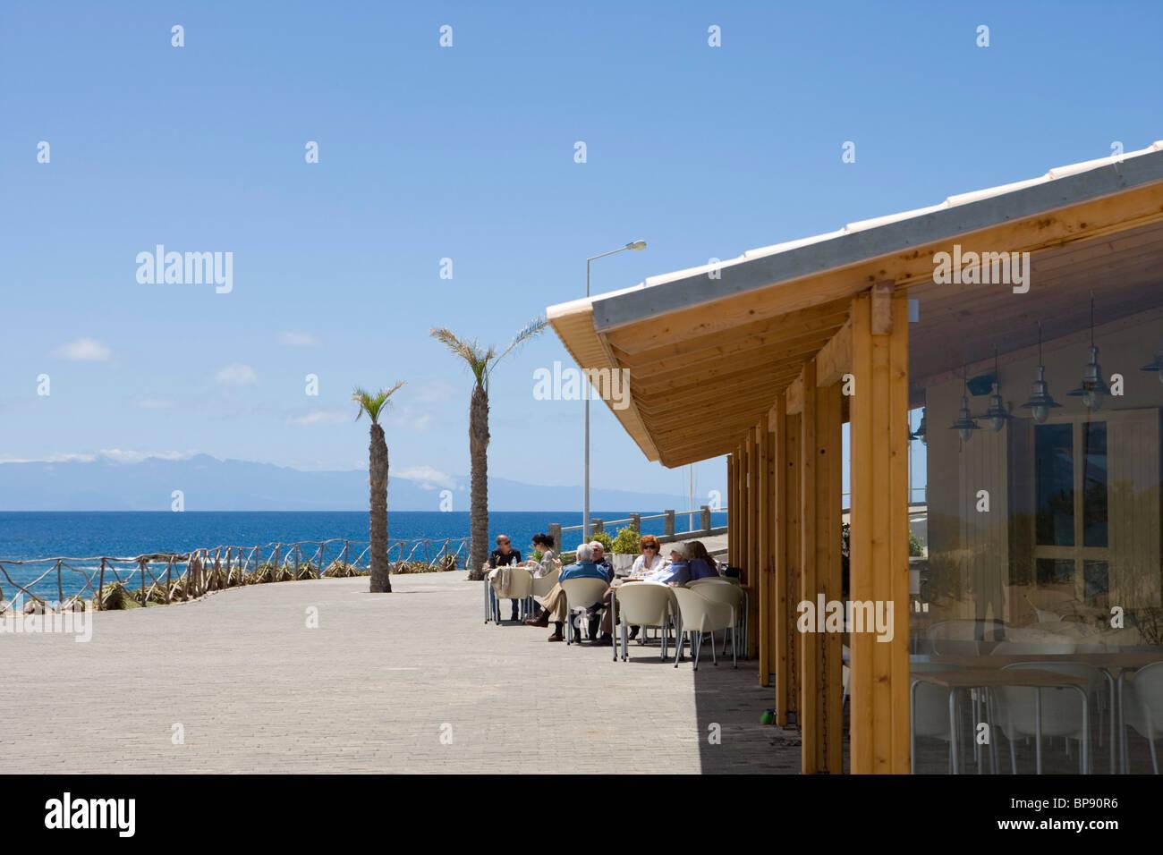 O Calhetas Sunset Bar Restaurant, Porto Santo, near Madeira, Portugal - Stock Image
