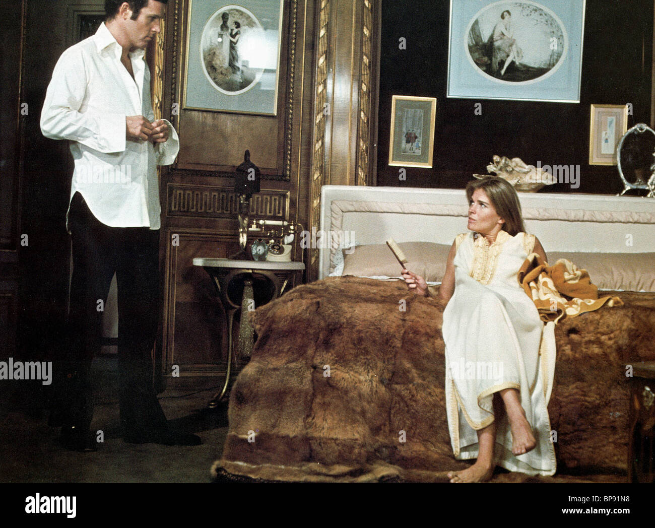 CHARLES GRODIN, CANDICE BERGEN, 11 HARROWHOUSE, 1974 - Stock Image