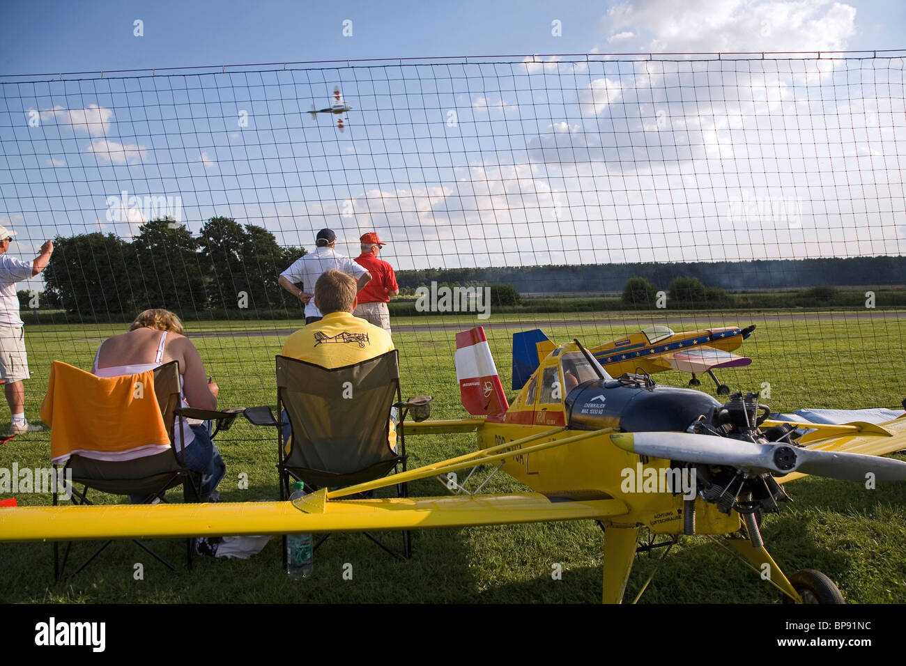 Model aircrafts, airshow, Lehrte, Lower Saxony, Germany - Stock Image