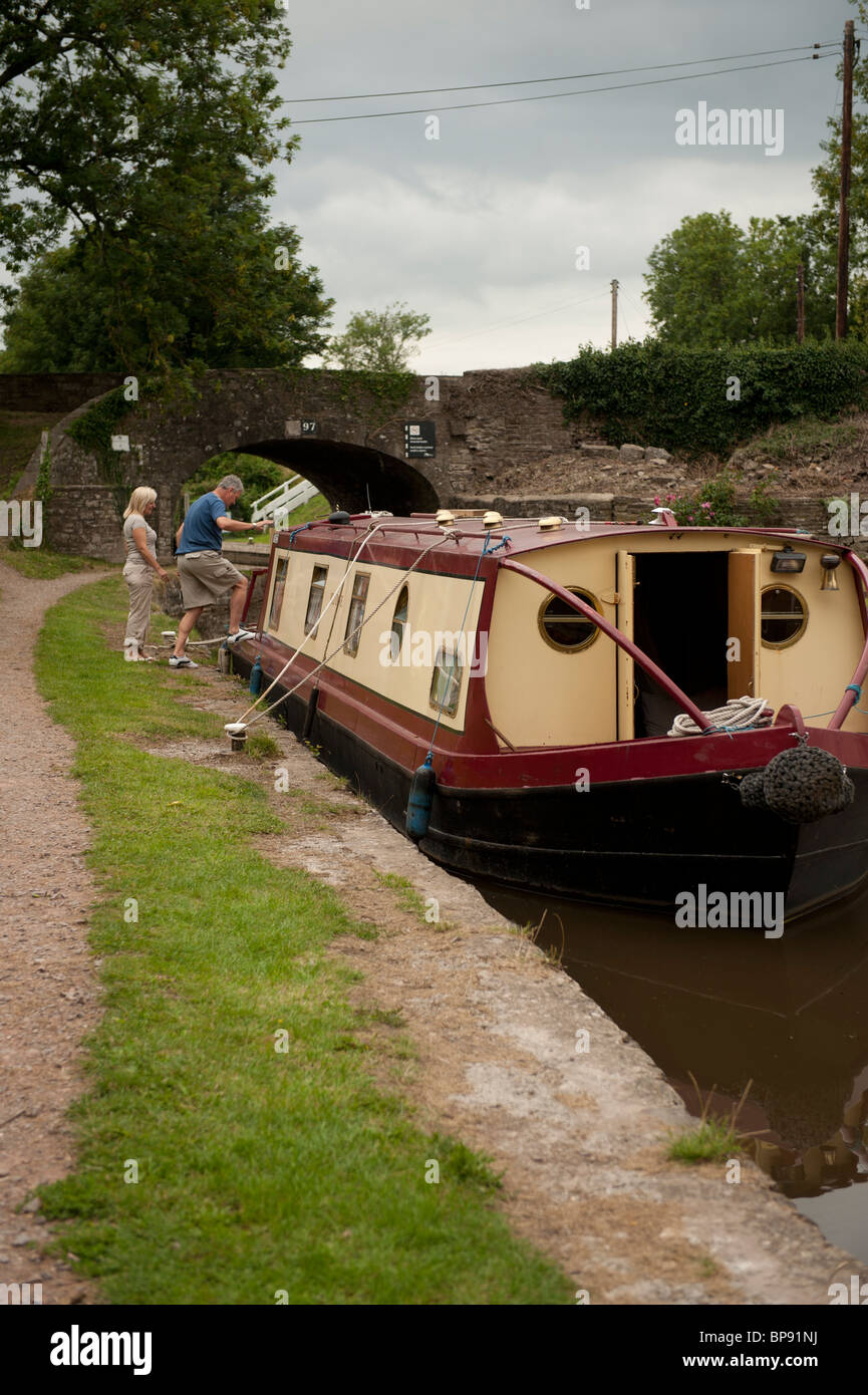 Monmouthshire and Brecon Canal, Govilon, South Wales UK - Stock Image