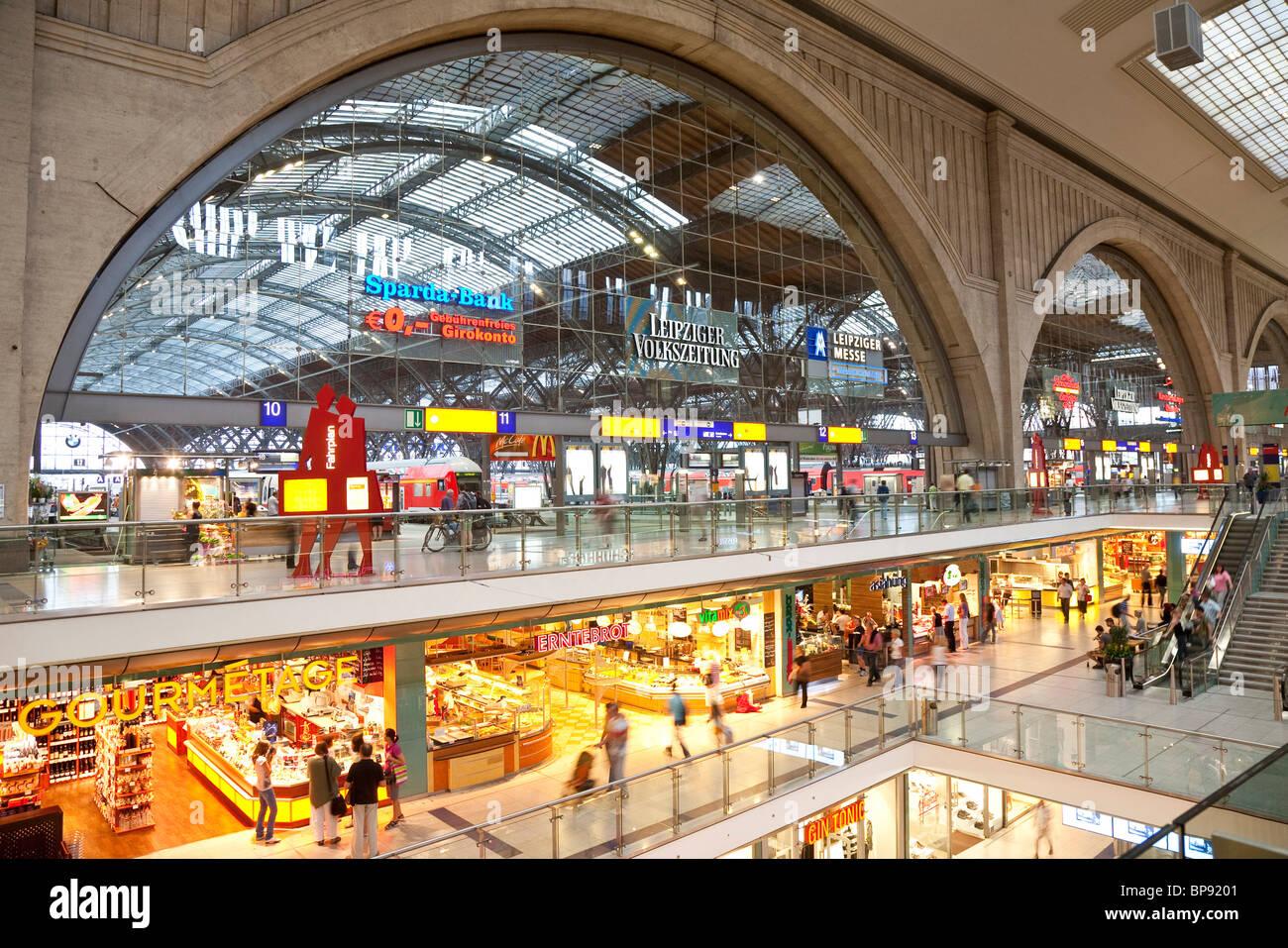 Main station, Leipzig, Saxony, Germany - Stock Image