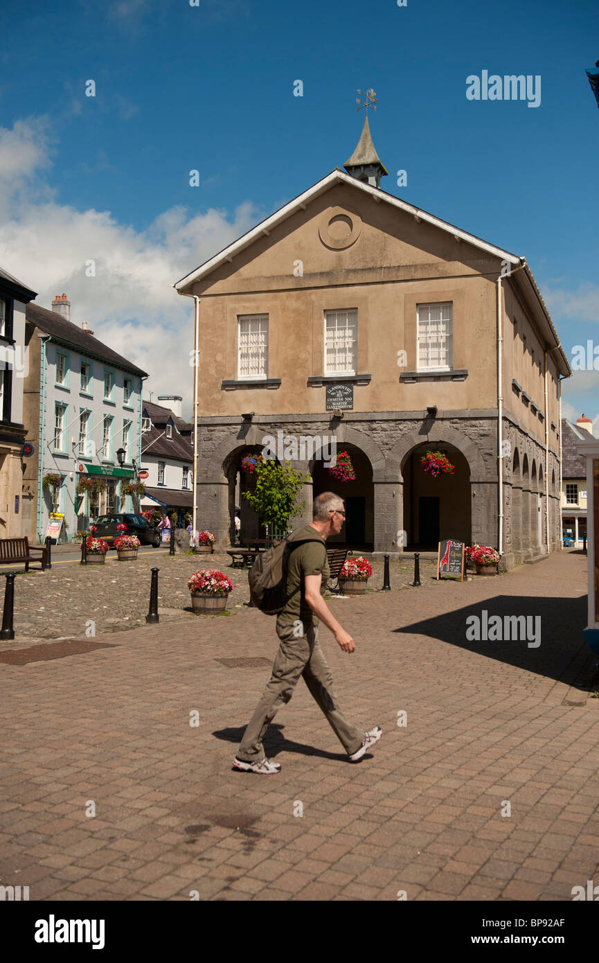 The Market Hall, Llandovery twon centre, Carmarthenshire Wales UK - Stock Image