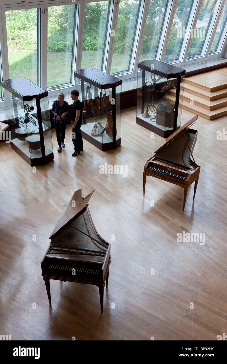 interior of Musikinstrumenten Museum or Museum of Musical Instruments in Mitte Berlin Germany - Stock Image