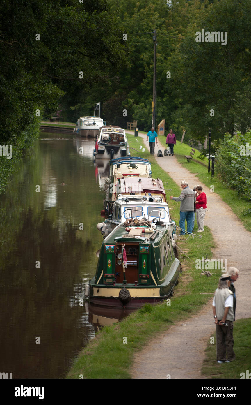 Monmouthshire and Brecon Canal at Talybont on Usk, South Wales UK - Stock Image