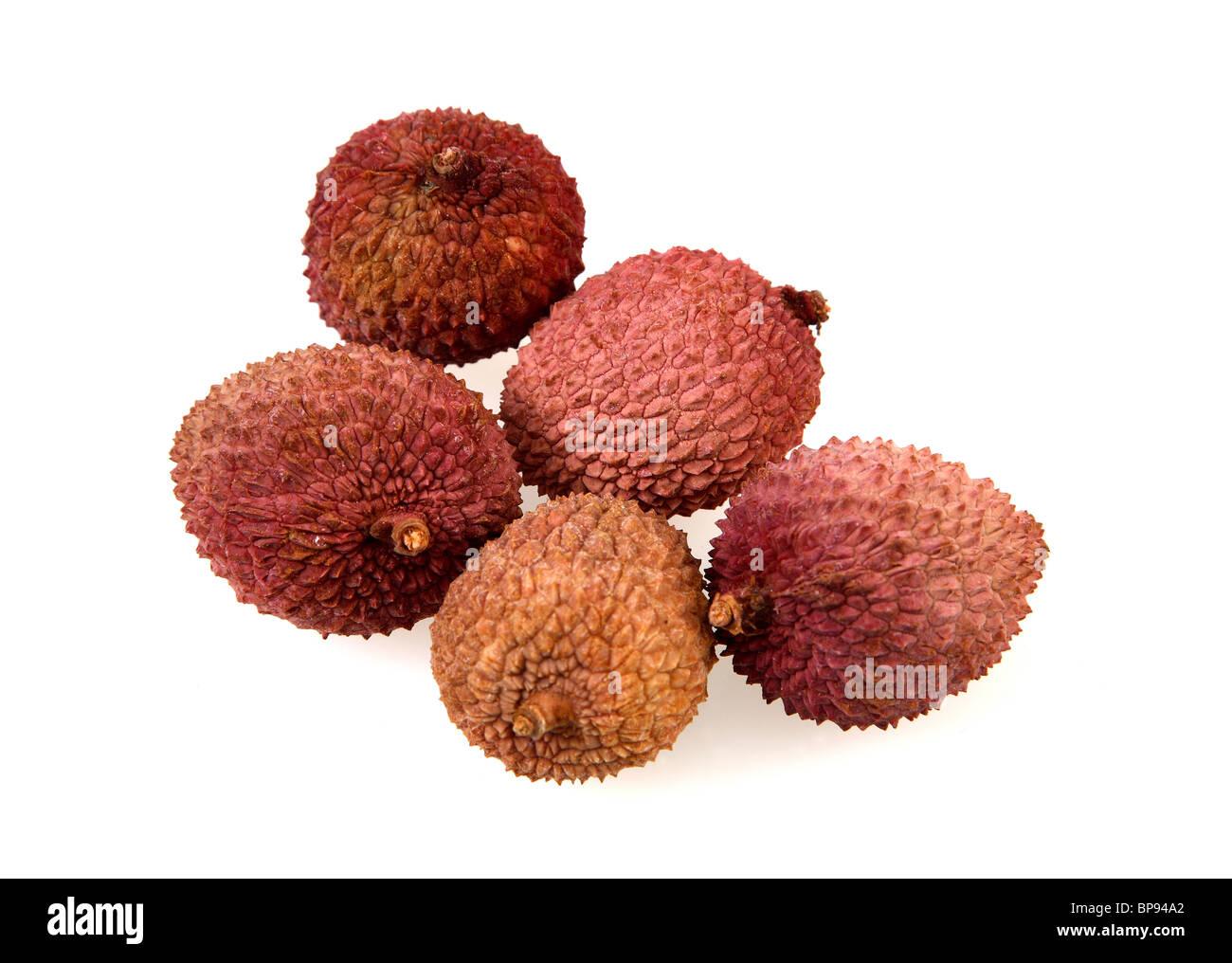 Fresh lychees - Stock Image