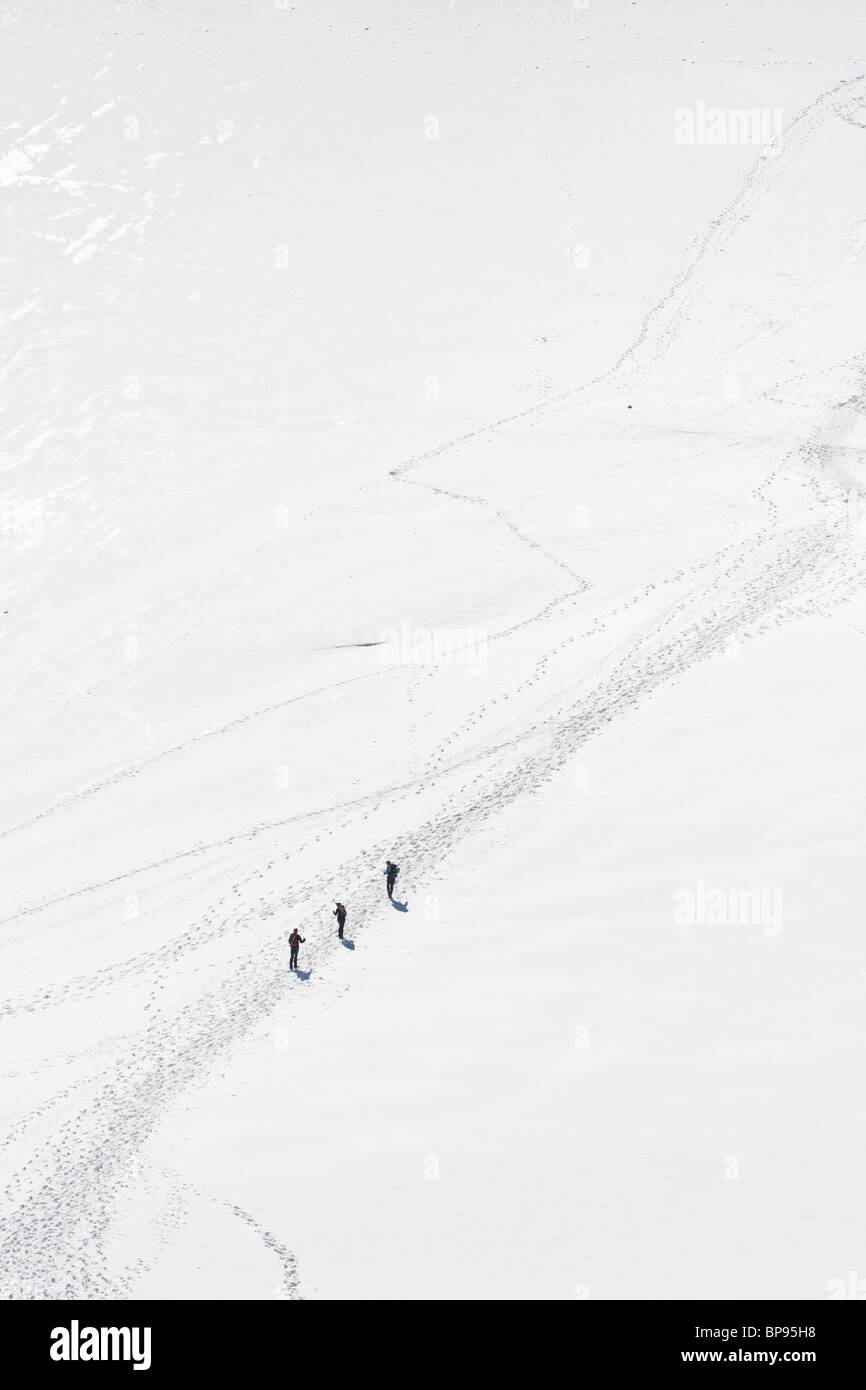 Mountaineers in the Alps Stock Photo