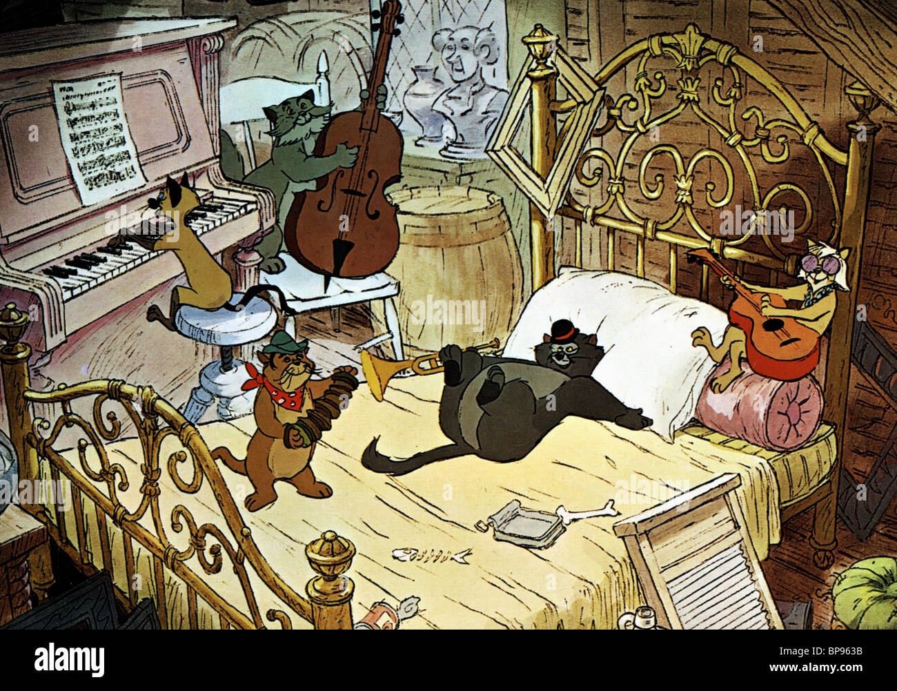 the alley cats the aristocats 1970 stock photo 30935167