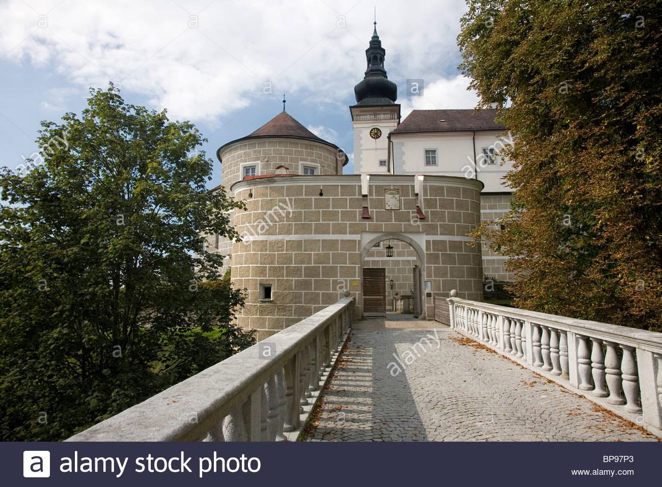 Weinberg castle, Kefermarkt, Muehlviertel, Upper Austria, Austria Stock Photo